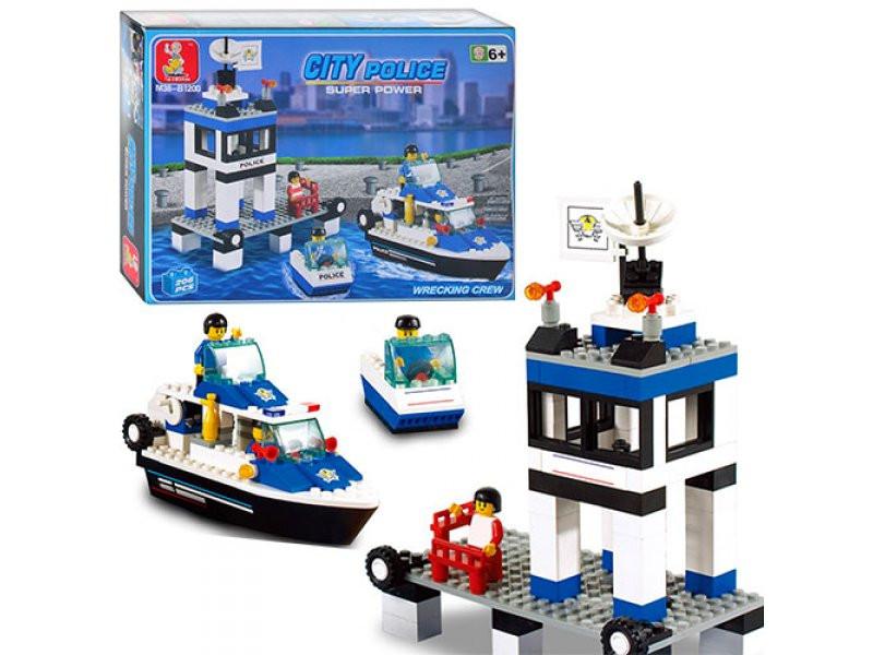 Конструктор SLUBAN Морская полиция M38-B1200, 206 деталей