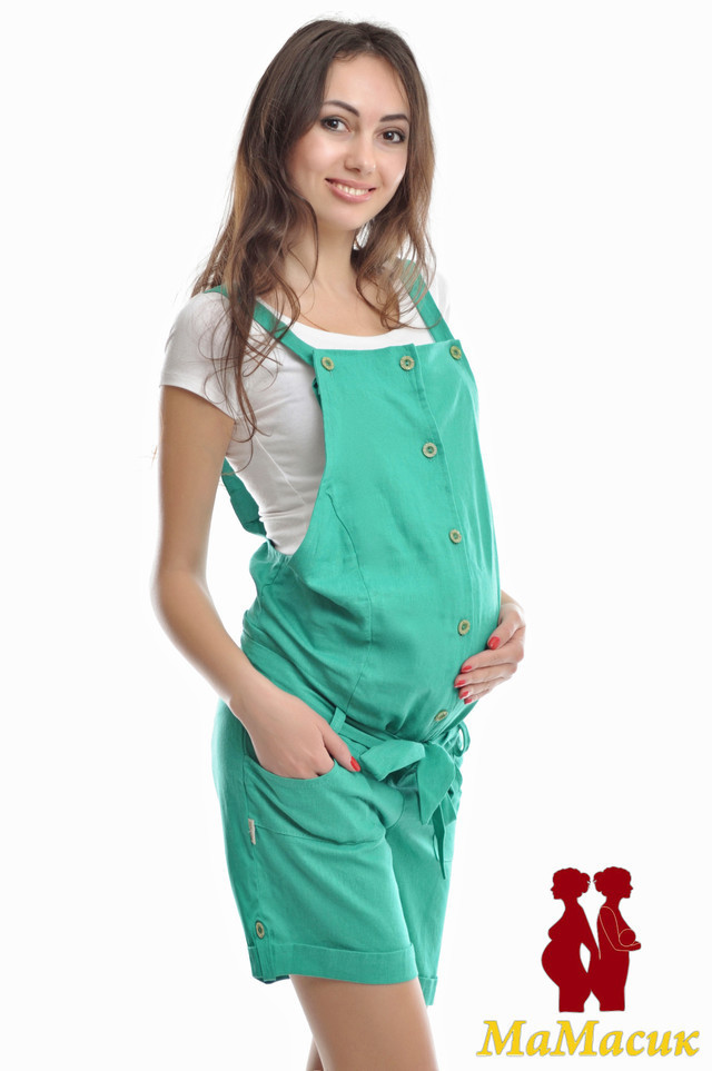 4affc3aa897b Льняной комбинезон для будущих мам - HAPPY MAMA - одежда для беременных и  кормящих, одежда