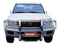Кенгурятник с защитой фар для Toyota Land Cruiser 100
