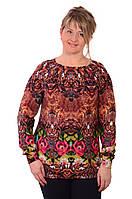 Свитер женский туника ангора большие размеры