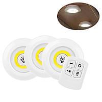 Лед светильник на батарейках LED light with Remote Control set, подсветка рабочей зоны на кухне (TI)