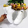 Актуальні молодіжні білі жіночі кросівки на блискавці на флісі, фото 10