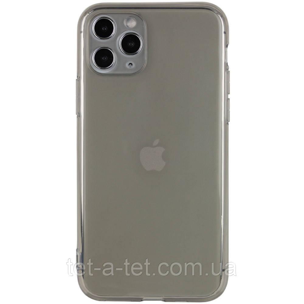 """Матовый полупрозрачный силиконовый чехол для Apple iPhone 11 Pro Max (6.5"""") - Черный (Black)"""