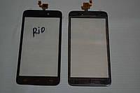 Оригинальный тачскрин / сенсор (сенсорное стекло) для Explay Rio (черный цвет, самоклейка)