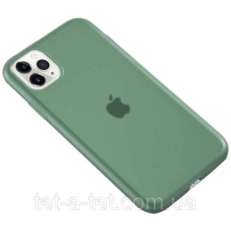 """Матовый полупрозрачный силиконовый чехол для Apple iPhone 11 Pro (5.8"""") - Зеленый (Pine green)"""