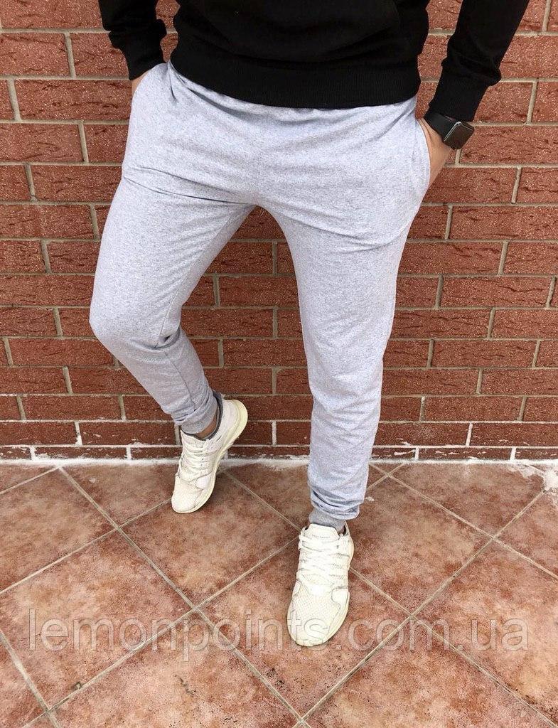 Мужские спортивные штаны (осень/весна) серые