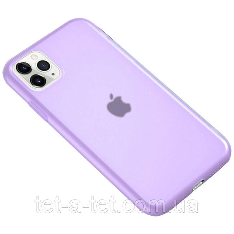 """Матовий напівпрозорий силіконовий чохол для Apple iPhone 11 Pro (5.8"""") - Фіолетовий (Purple)"""