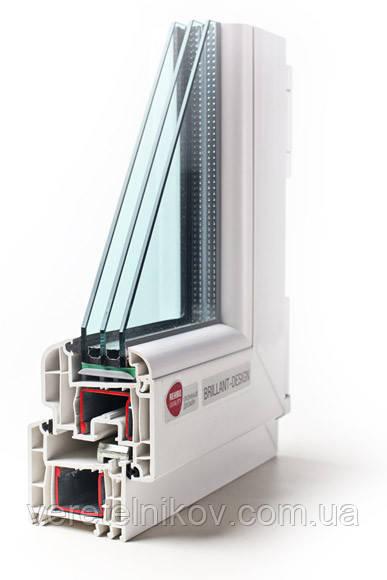 """Металлопластиковые окна """"REHAU Brillant-Design (Рехау Бриллиант) """"."""