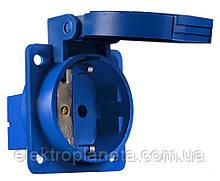 ГВ 16А/2 (220В) 2Р+РЕ (312) синє
