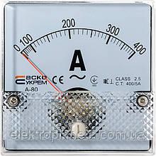 АС Амперметр 400/5А 80х80 (А-80)