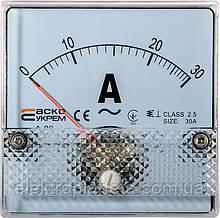 АС Амперметр прям. вкл. 30А 80х80 (А-80)