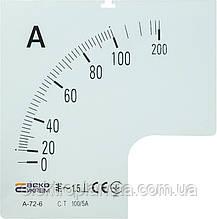 Шкала 100/5А до А-72-6