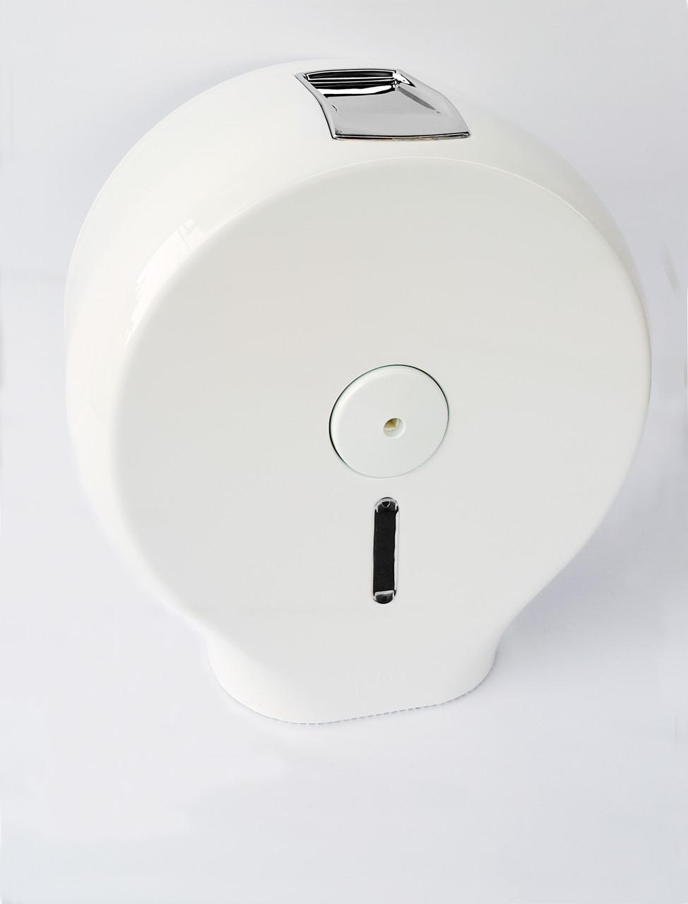 Диспенсер для туалетной бумаги АБС пластик, 9293 белый глянцевый