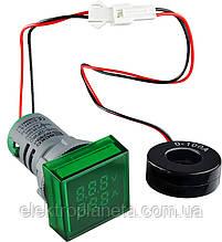 ED16-22 FV AD зелений 0-100А, 50-500В