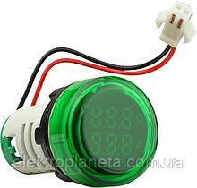 ED16-22 V AD зелений 0-100А, 50-500В