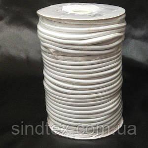 4 мм кругла Резинка (капелюшна) біла 50 ярд. (СИНДТЕКС-1558)