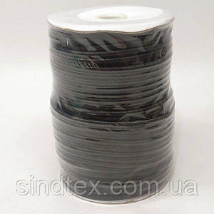 4 мм кругла Резинка (капелюшна) чорна 50 ярд. (СИНДТЕКС-1559)