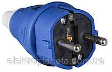 ВП 16А/2 (220В) 2Р+РЕ (012) Синя