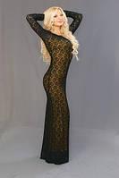 Платье женское в пол облегающие