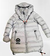 Куртка зимняя удленённая на холофайбере для девочки рост 158/164 см