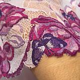 Еластичне (стрейчевое) мереживо в рожевих відтінках. Ширина 22 див., фото 3
