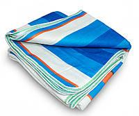 Электрическое одеяло с подогревом 150х170 см. полосатое с зеленой окантовкой, электропростынь двуспальная