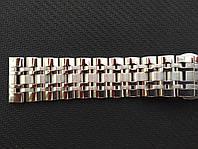Браслет для часов из нержавеющая стали 316L, литой. Мат/глянец. Прямое /заокругленное окончание. 19 мм, фото 1