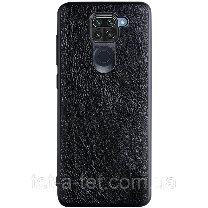 Шкіряний чохол Retro Сlassic для Xiaomi Redmi Note 9 - Чорний