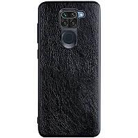 Шкіряний чохол Retro Сlassic для Xiaomi Redmi Note 9 - Чорний, фото 1