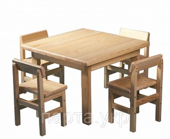 Детский стол и 4 стула