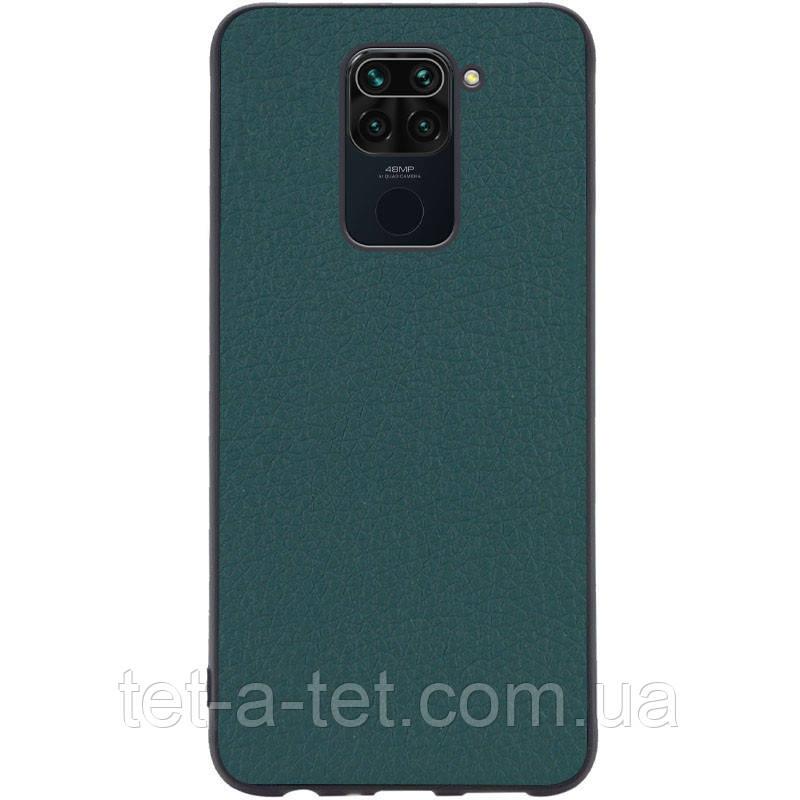 Кожаный чехол Epic Vivi для Xiaomi Redmi Note 9 - Зеленый (Pine green)