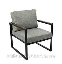"""Крісло """"Софора"""" (сірий чорний) ()"""