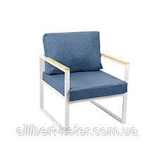"""Крісло """"Мірабель"""" (голубий з білим) ()"""