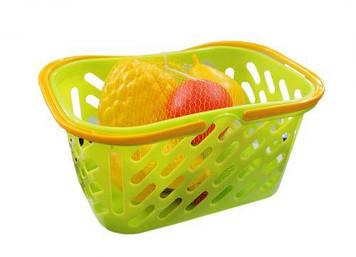 Корзинка салатовая с фруктами, 8 предметов