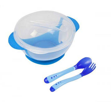 Набор детской посуды (синяя)