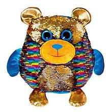 """М'яка іграшка з паєтками Fancy """"Блискітки"""" ведмедик Джорджіо (MOG01)"""