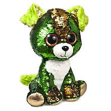 """М'яка іграшка з паєтками Fancy """"Блискітки"""" щеня Смарагд (GMP0P)"""