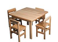 Детский стол и 4 стулья БУК