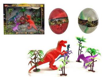 """Ігровий набір """"Парк динозаврів"""" + 2 лизуна в яйці"""