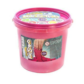 """Кинетический песок """"KidSand"""", розовый, 1200 г"""