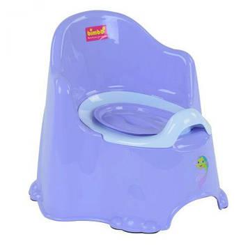 Горшок со спинкой и крышкой Bimbo, фиолетовый