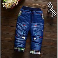Утепленные джинсы для мальчика Dogs 1512