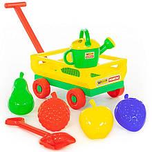 Дитячий візок з ручкою і набір для пісочниці, комплект Polesie №483 (45713)
