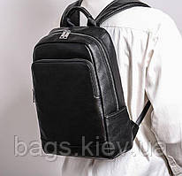 Мужской кожаный рюкзак из натуральной кожи Черный Tiding Bag Мужские рюкзаки из кожи