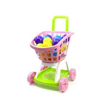 "Тележка ""Супермаркет"" с шариками (розовая)"