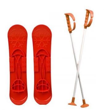 """Детские лыжи """"SKI BIG FOOT"""" (красные)"""