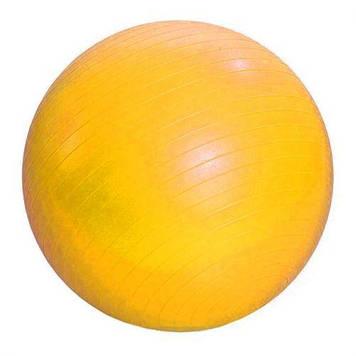 М'яч гумовий для фітнесу , 55 см (жовтий)