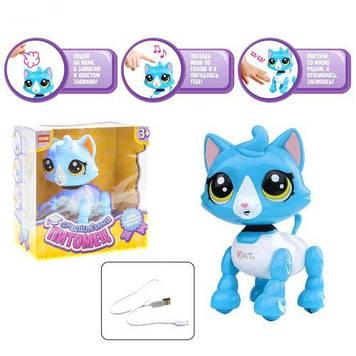 """Інтерактивна іграшка """"Смышленный вихованець: котик"""" (блакитний)"""