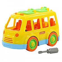 """Конструктор-транспорт POLESIE """"Автобус"""", 26 елементів в сіточці, жовтий (71248-2)"""