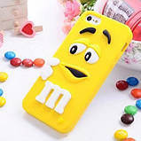 Чехол M&M's для Apple iPhone 4/4s голубой, фото 5